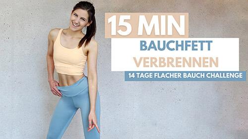 14 Tage Flacher Bauch Challenge – Abnehmen am Bauch – Bauch Workout – Flachen Bauch – Bauchfett verlieren – Bauch Workout