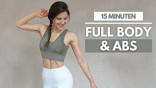15 MIN ABS Full Body Workout – 15 Min Workout – Get in Shape Challenge – Abs Workout – Bauch Workout – Tina Halder – Tina.Fitness