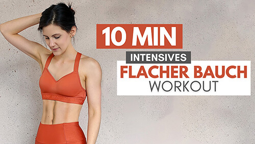 Flacher Bauch Workout – 10 MIN Intensives Workout – Flachen Bauch (1)