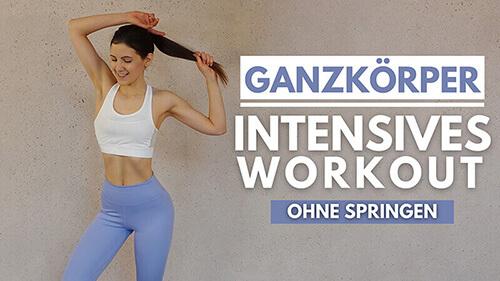 Ganzkörper Workout ohne Springen – Cardio Training – Workout für Zuhause – Fett verbrennen – Abnehmen – Workout für Anfänger – Tina Halder – Tina.Fitness (1)