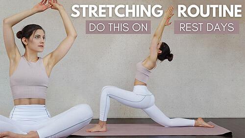 Stretching Routine – Active Rest Day – ganzen Körper dehnen – Tina Halder – Tina.Fitness – Dehnen Zuhause (1)