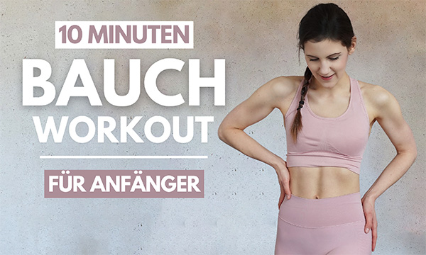 tina-halder 10 MIN Bauch Workout für Anfänger