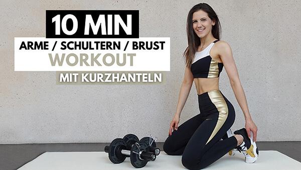 tina-halder 10 Minuten Oberkörper Workout mit Kurzhanteln