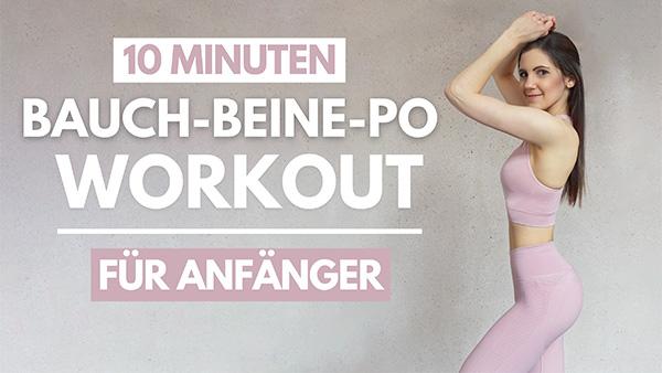 tina-halder 10 MIN Bauch Beine Po Workout für Anfänger