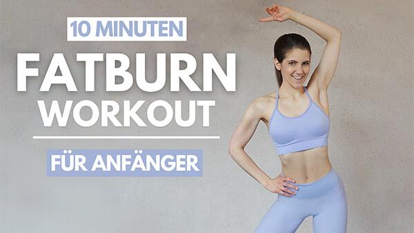 tina-halder 10 MIN Fatburn Workout für Anfänger