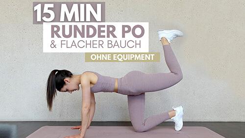 tina-halder Flacher Bauch, runder Po Workout – 15 minuten Po Workout