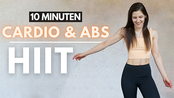 10 MIN HIIT Workout Cardio + Abs - Tina Halder