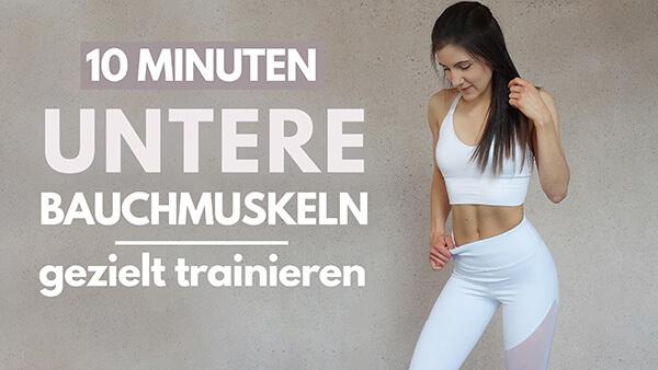 Untere Bauchmuskeln trainieren - Lower Abs Workout - untere Bauchmuskeln trainieren - Übungen für die unteren Bauchmuskeln - Tina Halder