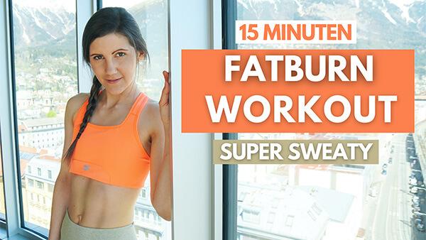 15 MIN Fatburn Workout - HIIT Workout - Tina Halder - Training nach Zyklus