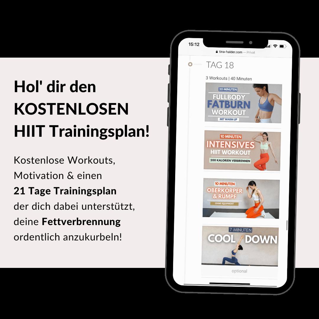 HIIT Workout Trainingsplan - tina-halder