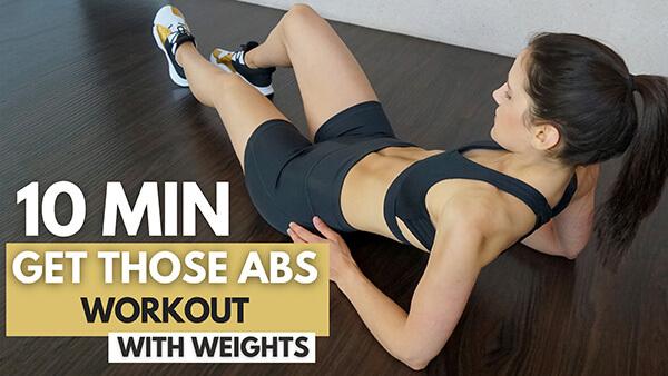 Abs Workout with Weights - Bauch Workout mit Gewichten - Get those Abs